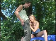 Cory Everson - DP threesome outdoors