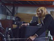 Hot blonde milf railed in storage room of the pawnshop