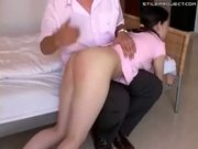 Naughty Female Student Gets A Spanking