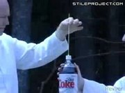 Diet coke and mentos experiments
