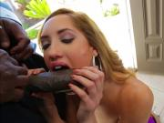 Slutty big assed babe Chloe Amour fuck in the front doorway
