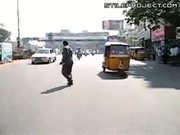 Crossing The Road In India
