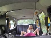 Cab driver bangs blonde deep throat on the bonnet