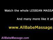 Nude lesbo babe massaged