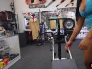 Ebony trainer pawned equipment and fucked at the pawnshop