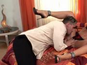 Tiffany Rousso uses pussy and feet
