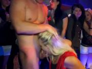 Cfnm babes suck cock and fuck at party