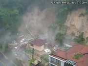 House completely destroyed by mudslide avalanche