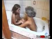 Lesbians In The Bath Tub