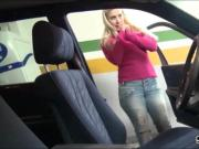 Real amateur blonde Czech girl Ellen pussy fucked for money