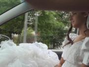 Rejected bride Amirah Adara sucks cock in the car