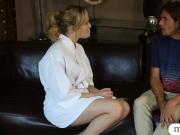 Tight masseuse Mia Malkova deeply fucked by client