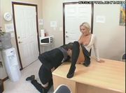 Big tit blonde fucked at the office