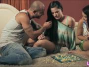 Athina and Valentina Nappi hot threesome with horny dude