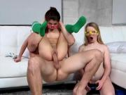 Teen Skanks Enjoy Sharing Big Cock And Jizz