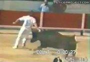 Bulls gores man up his asshole