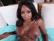 Ebony Babe Diamond Jackson Slurping On Cum Cream