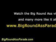 Round rump hottie rides cock