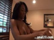 Pretty Ebony Slut Stuffs Boner In Mouth, Asshole  Beaver