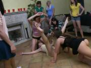 Cute perky tits rushes asked to make out in sorority house