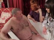 Dom mistresses shocked at his small cock