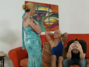 Blonde amateur mature and teen suck cock