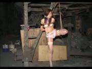 Asian Teen Tied Up In Stockings Until She Pisses Herself