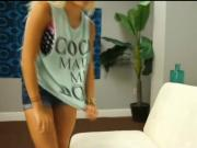 Gorgeous blonde teen Bibi Miami blows her stepbros big cock