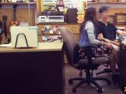 College student fucked by horny pawnkeeper at the pawnshop