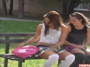 Foxy Sluts Make Out After School