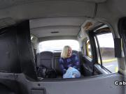 Cab driver fucks big ass blonde taxi reality