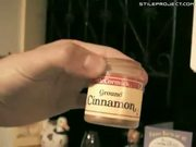 Hot Chick Tries The Cinnamon Challenge