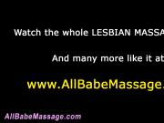 Fingering lezbo masseuse