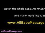 Fingering lezbo masseuse