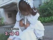 Innocent Japanese teen in Victorian dress fucks nasty