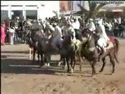 Two Dirka Horsemen Collide With Car