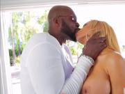 Hot shapely babe Luna Star sucks and fucks a black cock
