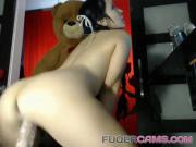 Cute ass and stiff sexy toy