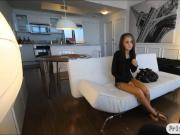 Skinny teen filmed while getting fucked on her first casting