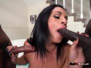Cougar Cristal Caraballo Enjoys Neighbors Black Cocks