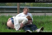 Public - couple fucking next to the highway