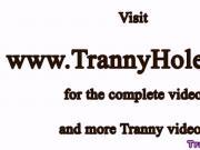 Black shemale trans gets pussy slammed