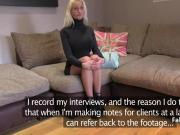 Agent anal fucked blonde on casting