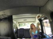 Blonde Canadian babe anal till facial in a cab
