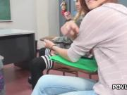 Hot blonde coed fucked in filled classroom