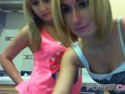 Double blonde striptease