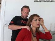 Thick redhead milf with big tits rides cock