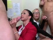 Two Horny MILF Secretaries Swapping Two Sucks