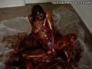 Chocolate Syrup Covered Body