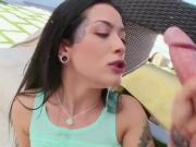 Gagging Babe Katrina Jade With Spittle Overflowing